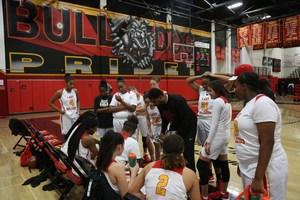 HHS Girls Varsity Basketball Huddle