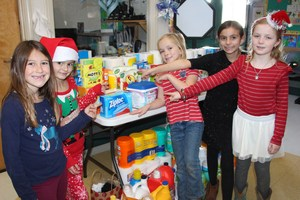 Downtown students showing pride in their donations