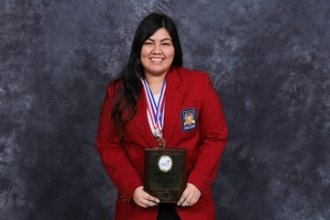 Pictured is Dariana De Leon which took First Place in Cosmetology.
