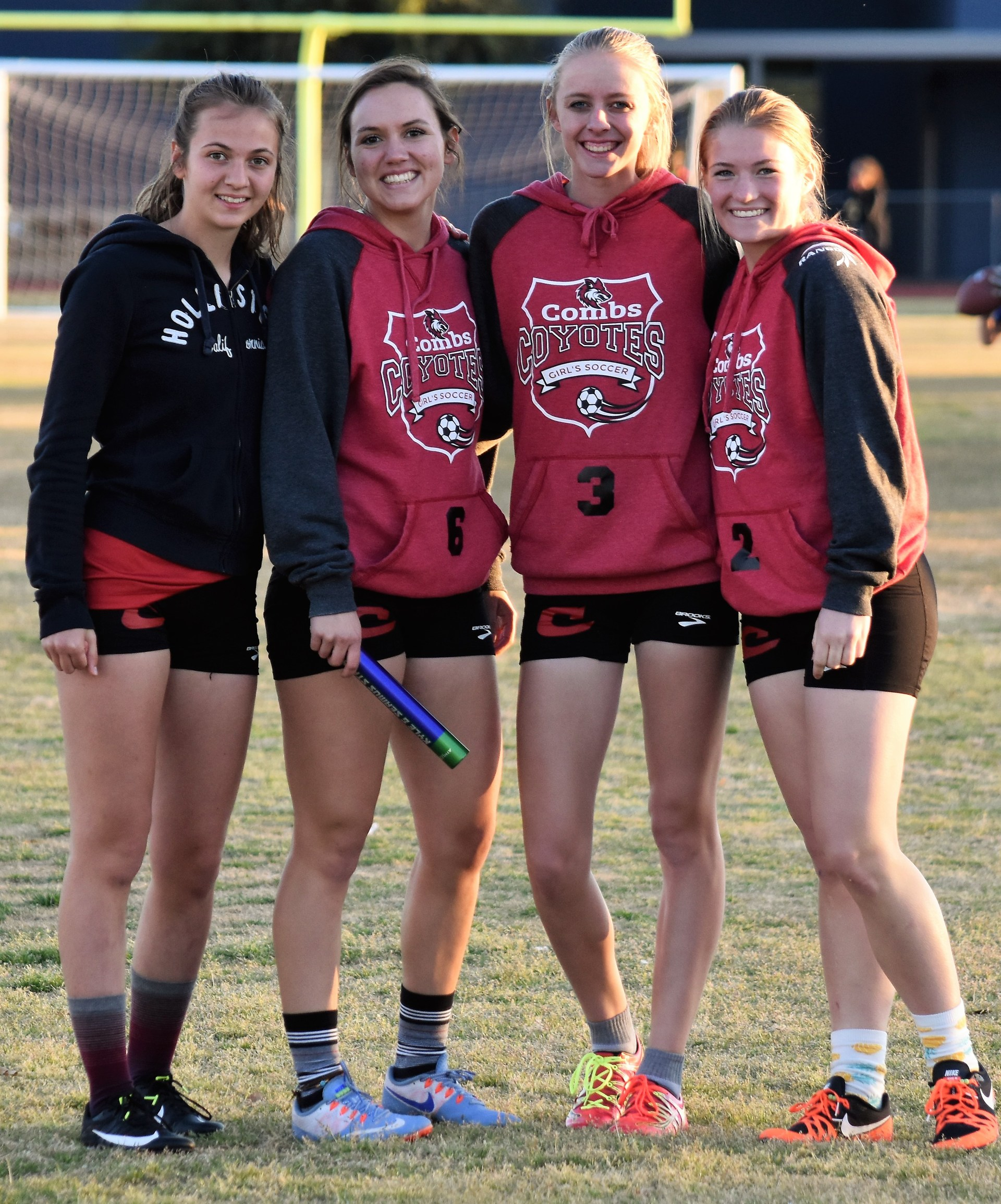 Girl relay race members