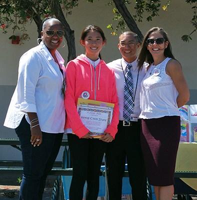 Students presented award