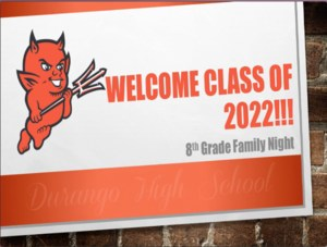 Image of powerpoint slide from DHS 8th-grade family night presentation