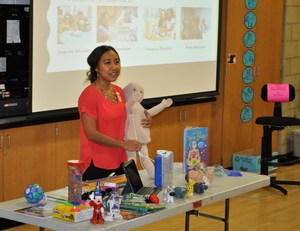 Azusa Pacific University Assistant Professor Charity Vasquez talks about how child psychologists use dolls and toys to help children understand what goes on in hospitals.