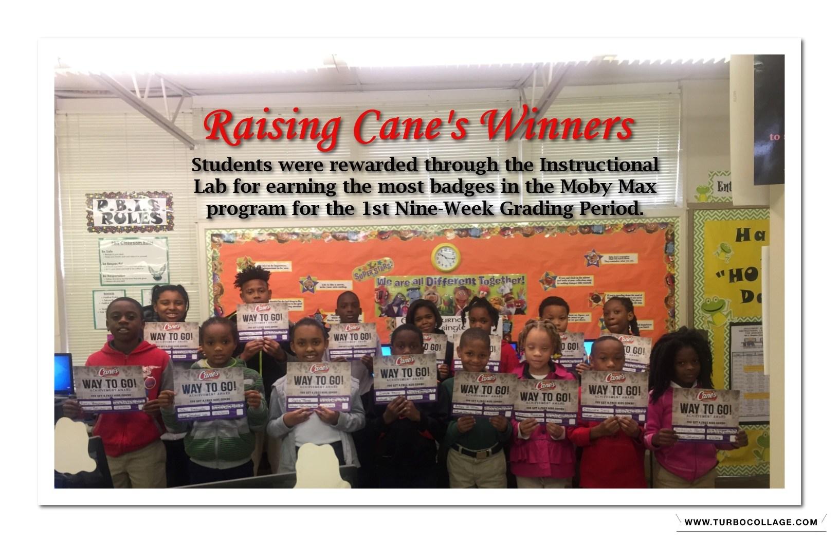 Raising Cane Winners-1st Nine Week Period