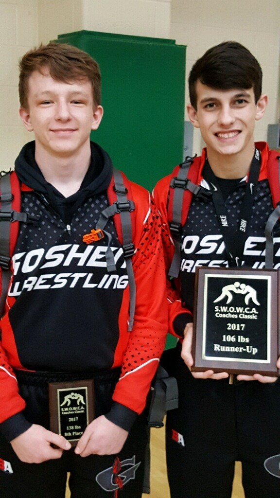 Chase Huff and Thomas Hill SWOWCA Coaches Classic placers