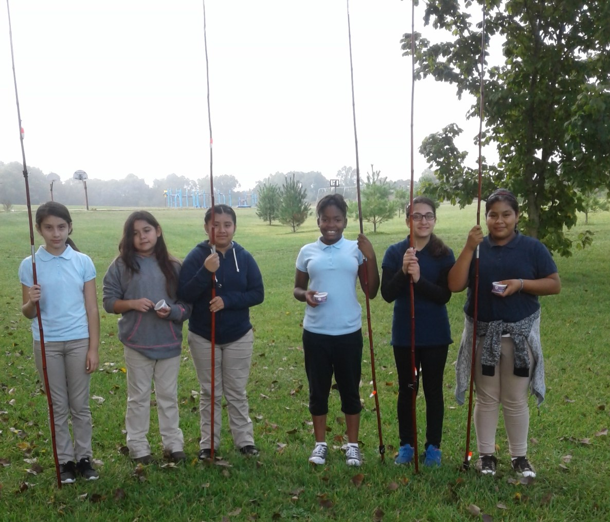 Upper El Students with fishing poles