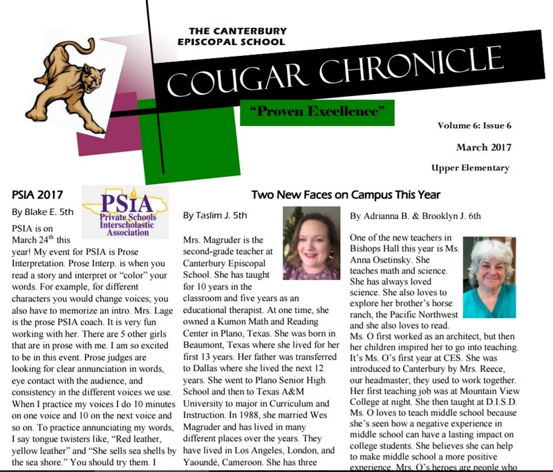 Post Spring Break Cougar Chronicle is Here! Thumbnail Image