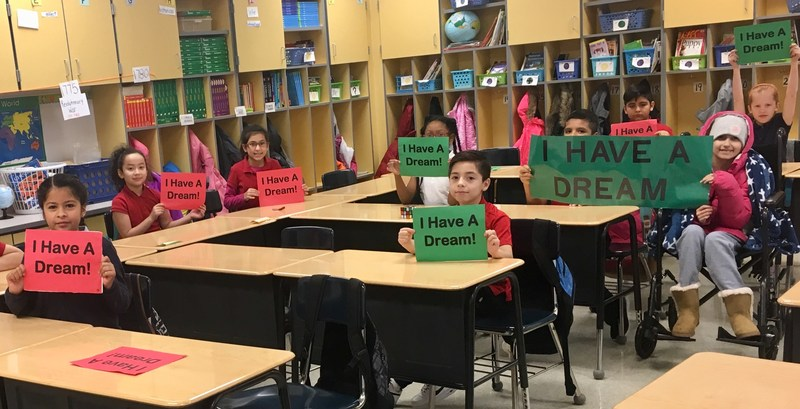 Mrs. Belisle's 4th Grade Class Eagerly Reciting The Dr. Martin Luther King Jr. Speech Thumbnail Image