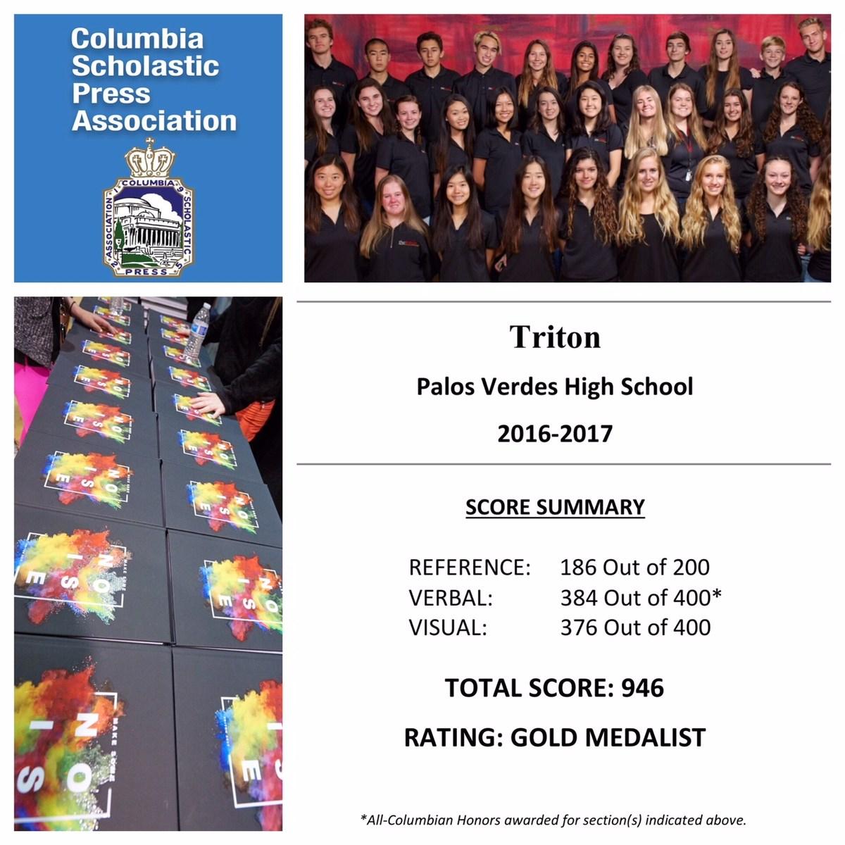 CSPA Triton Gold Medalist 2016-17
