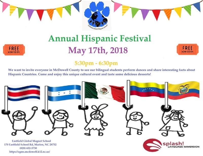Invitation to Annual Hispanic Festival.