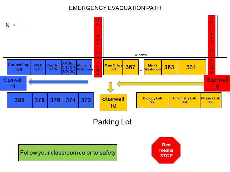 third floor campus evac map