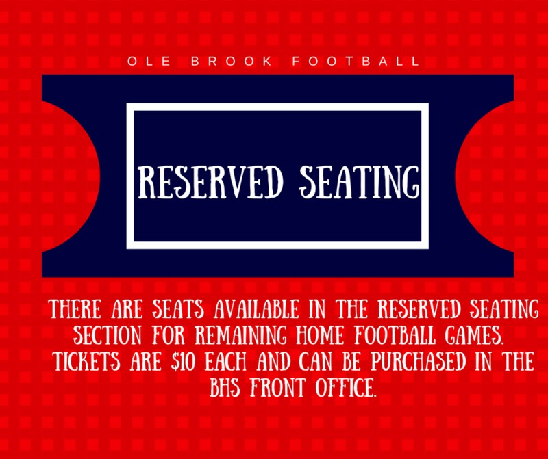 Reserved Seating Available for Ole Brook Football Games Thumbnail Image
