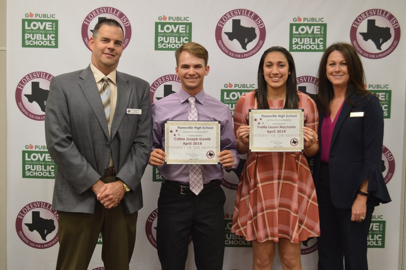 April Students of the Month with Administration