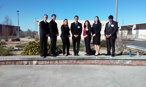 Hemet High School's Academic Decathlon Team at Beaumont High School for the Academic Decathlon competition.