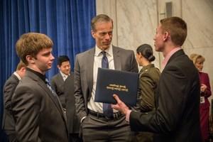 Isaac Olson with Senator John Thune at the Senator's Reception