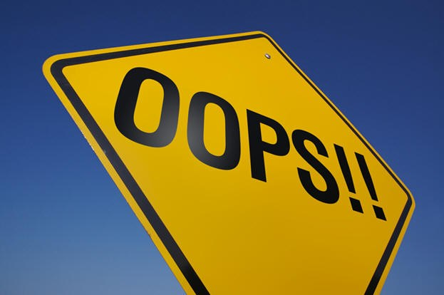 Street sign that says Oops!!