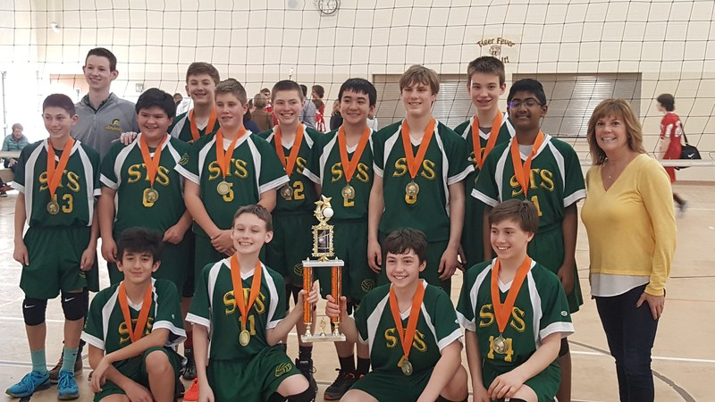 Congratulations to the 8th Grade Boys Volleyball Team who won the St. Colette Tournament! Featured Photo