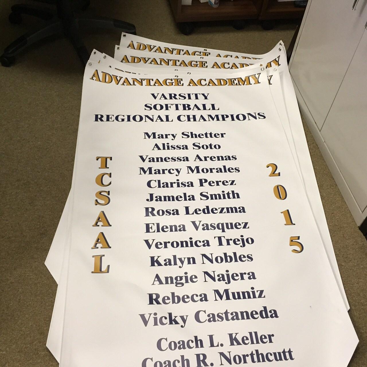 Varsity softball champions