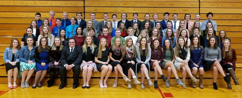 TKHS inducted 65 new members in the National Honor Society this year.