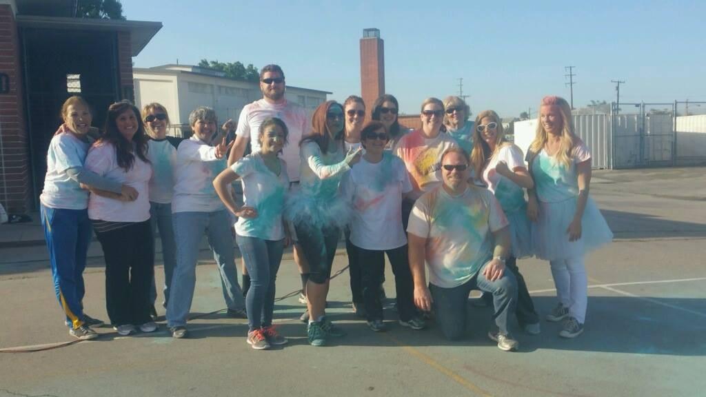Granada Middle School staff at the Color Run