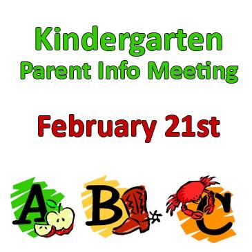 Kindergarten Parent Info Meeting