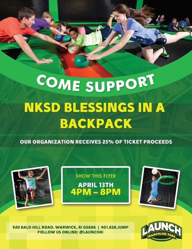 NKSD Blessing in Backpack Fundraiser Flyer