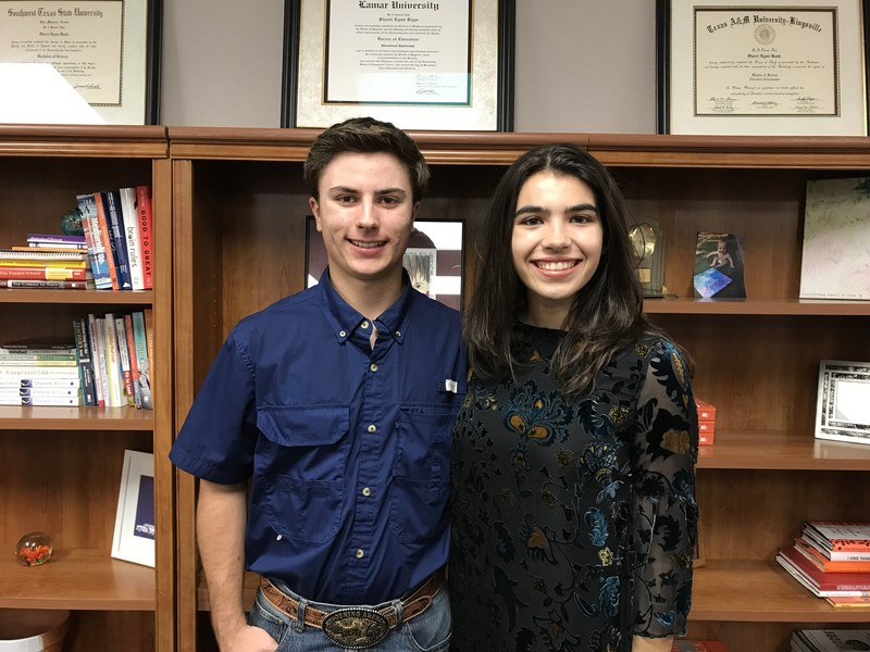 Ryan Henke and Sophia Santos, February Students of the Month