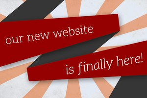 Our New Website is Finally Here inside a banner