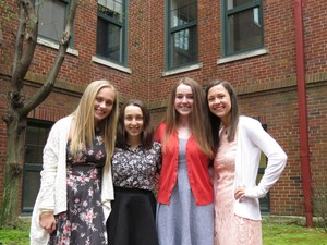 The four outgoing senior officers of OLSH NHS 2018.