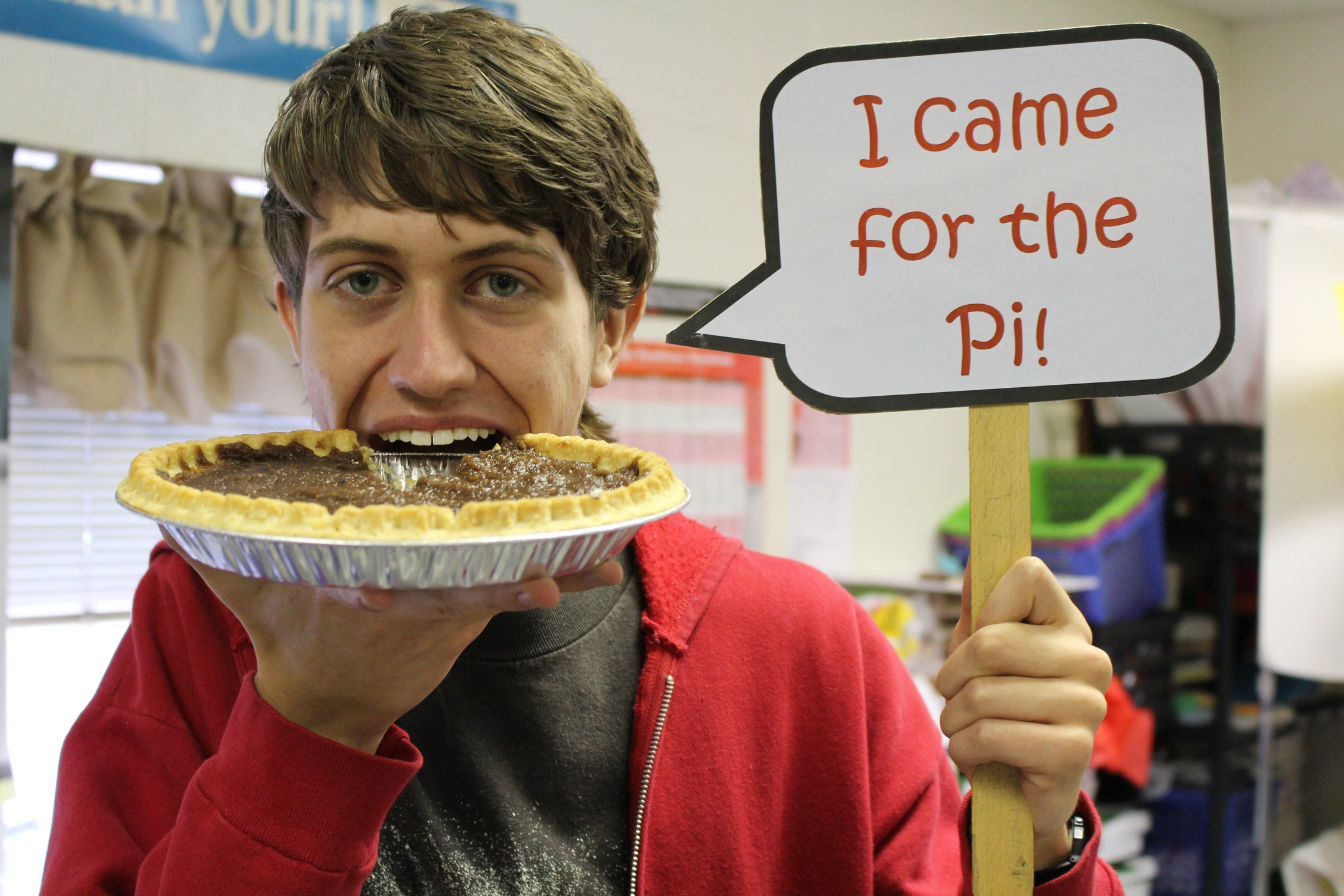 Pi day eating and photo booth fun