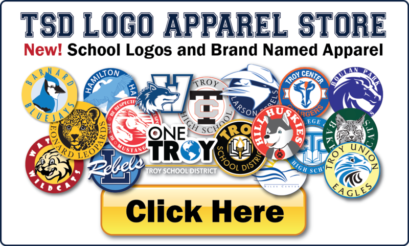 Troy School District logos