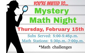 Mystery Math Night Flyer