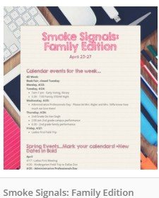 Smoke Signals: Family Edition Week of April 23 Featured Photo