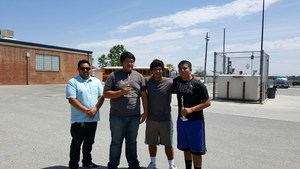 Mr. Rubio with Diego Figueroa (2nd Place), Santo Gutierrez (Ref), and Jonathan Lozoya (2nd Place).