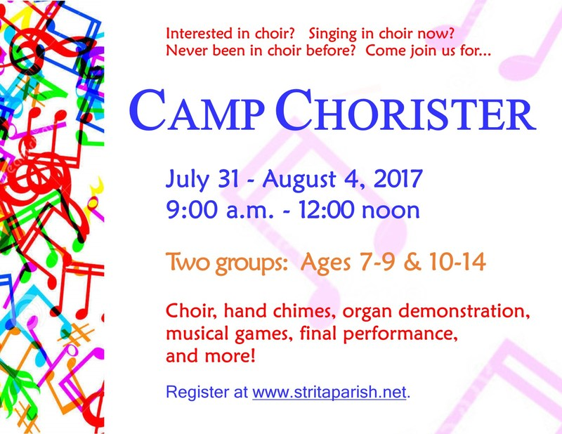 Parish Chorister Camp Being Offered This Summer Thumbnail Image