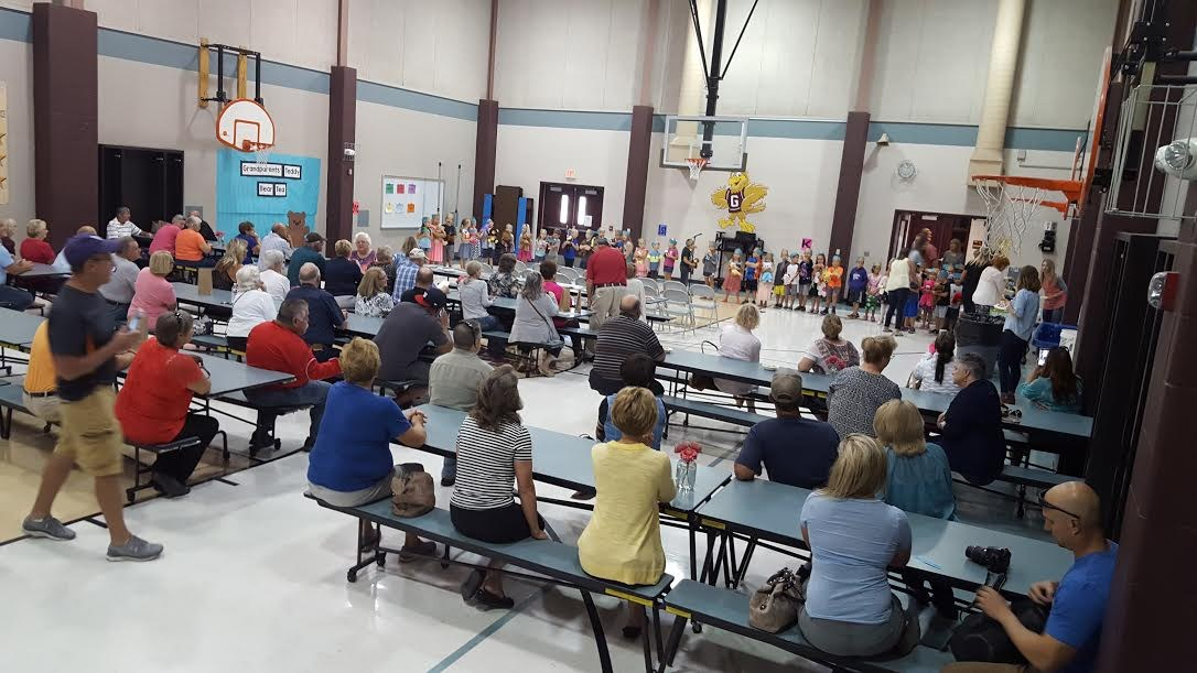 GRE 1st grade students entertain their grandparents