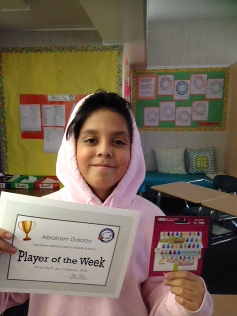 This week's Player of the Week, Abraham Galarza! Featured Photo