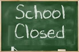 Chalkboard with words: School is closed