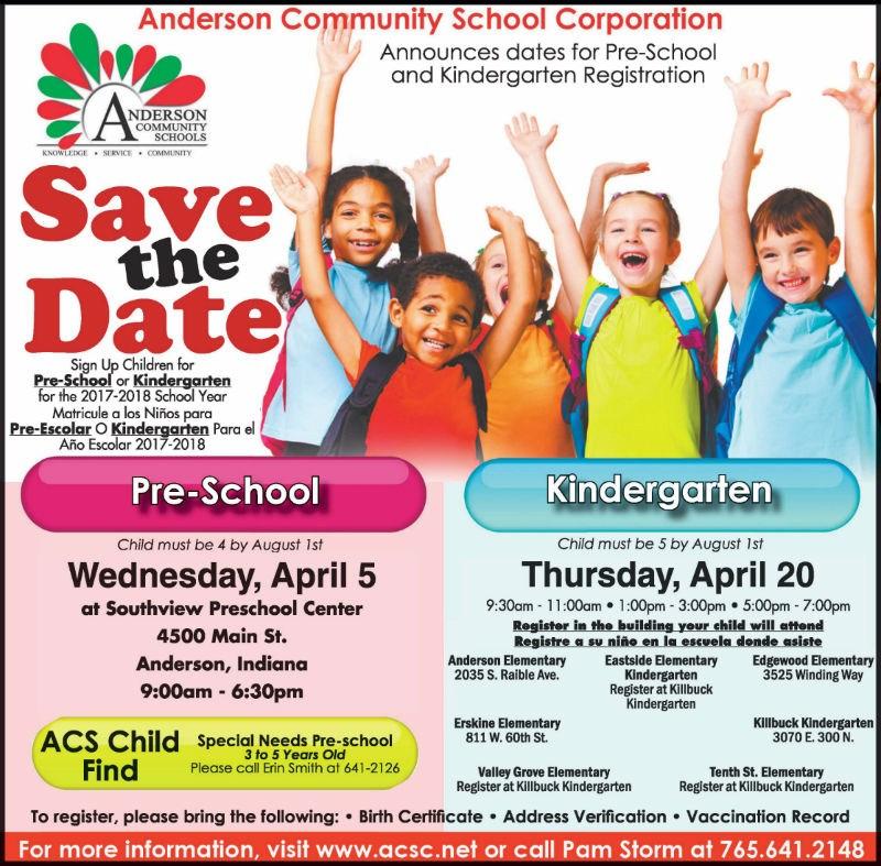 Preschool & Kindergarten Sign Up Coming in April Thumbnail Image