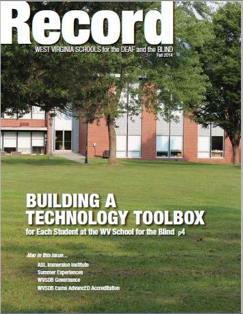cover of Fall 2014 Record Showing the School for the Blind
