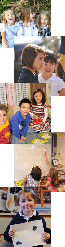 Kindergartners engaged in puzzles.