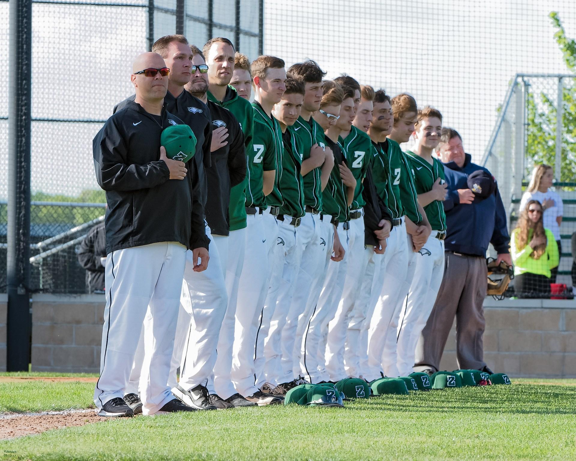 team photo during National Anthem