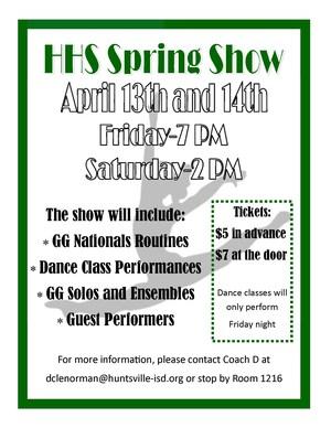 GGs Spring Show Flyer