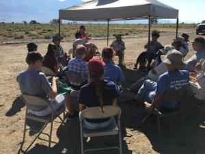 Ridgeview students at Manzanar