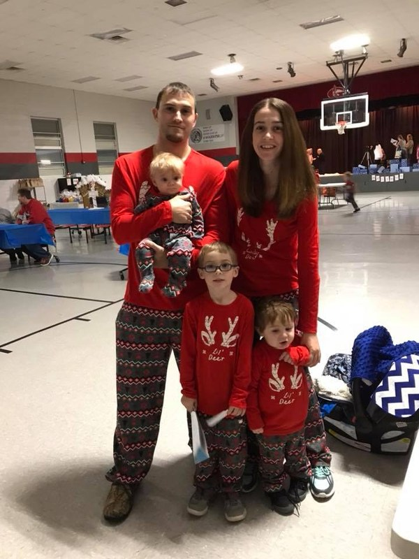 family at polar express event