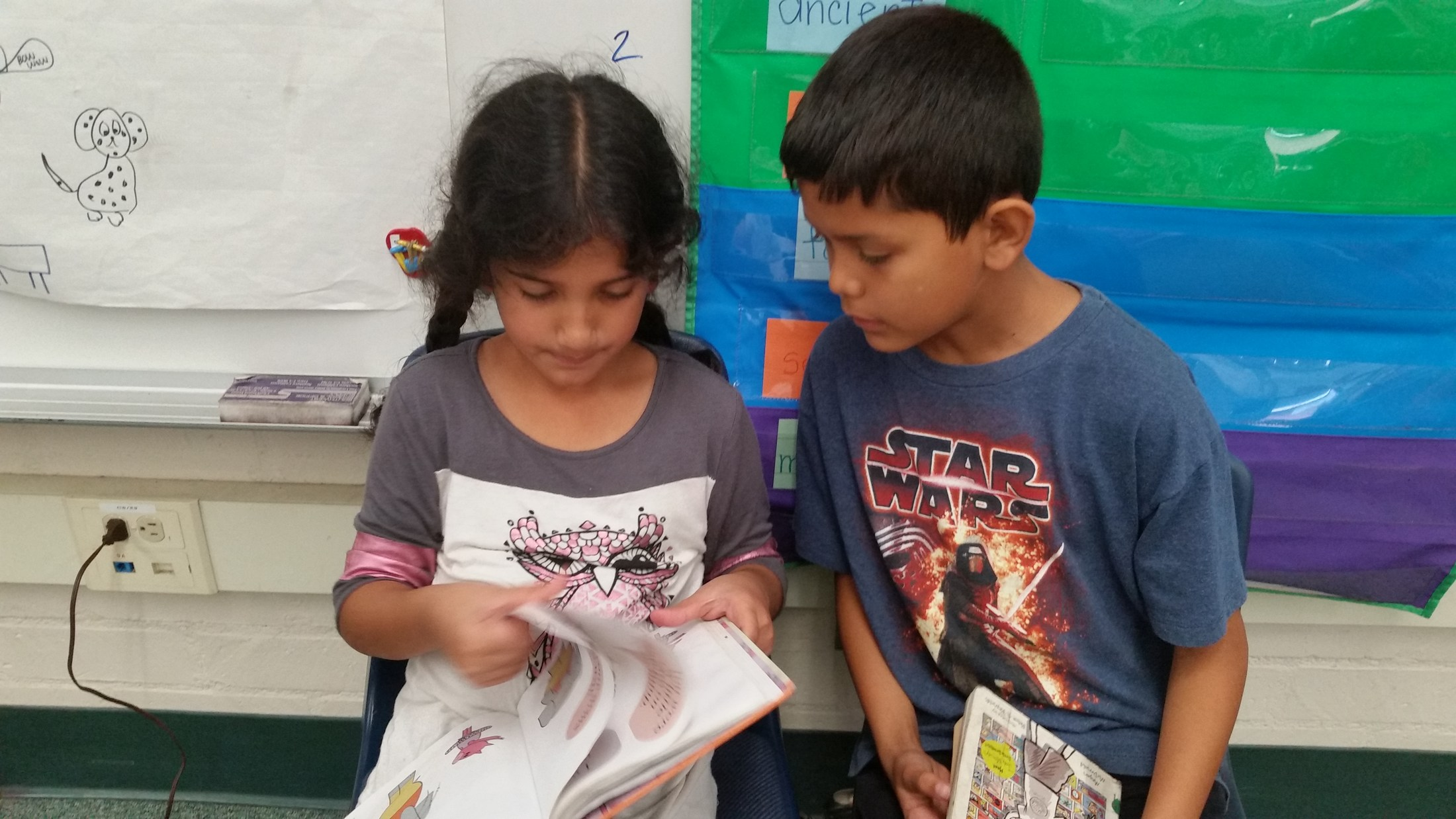Reading with 5th grade buddies