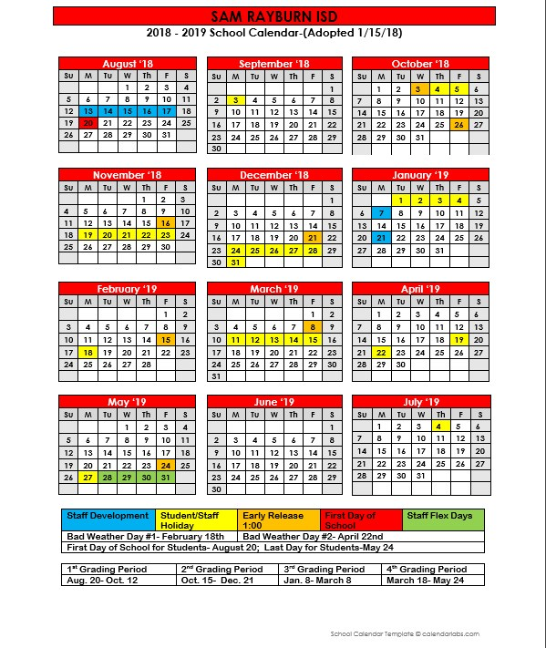 New Calendar Approved at Thursday Nights Board Meeting Featured Photo