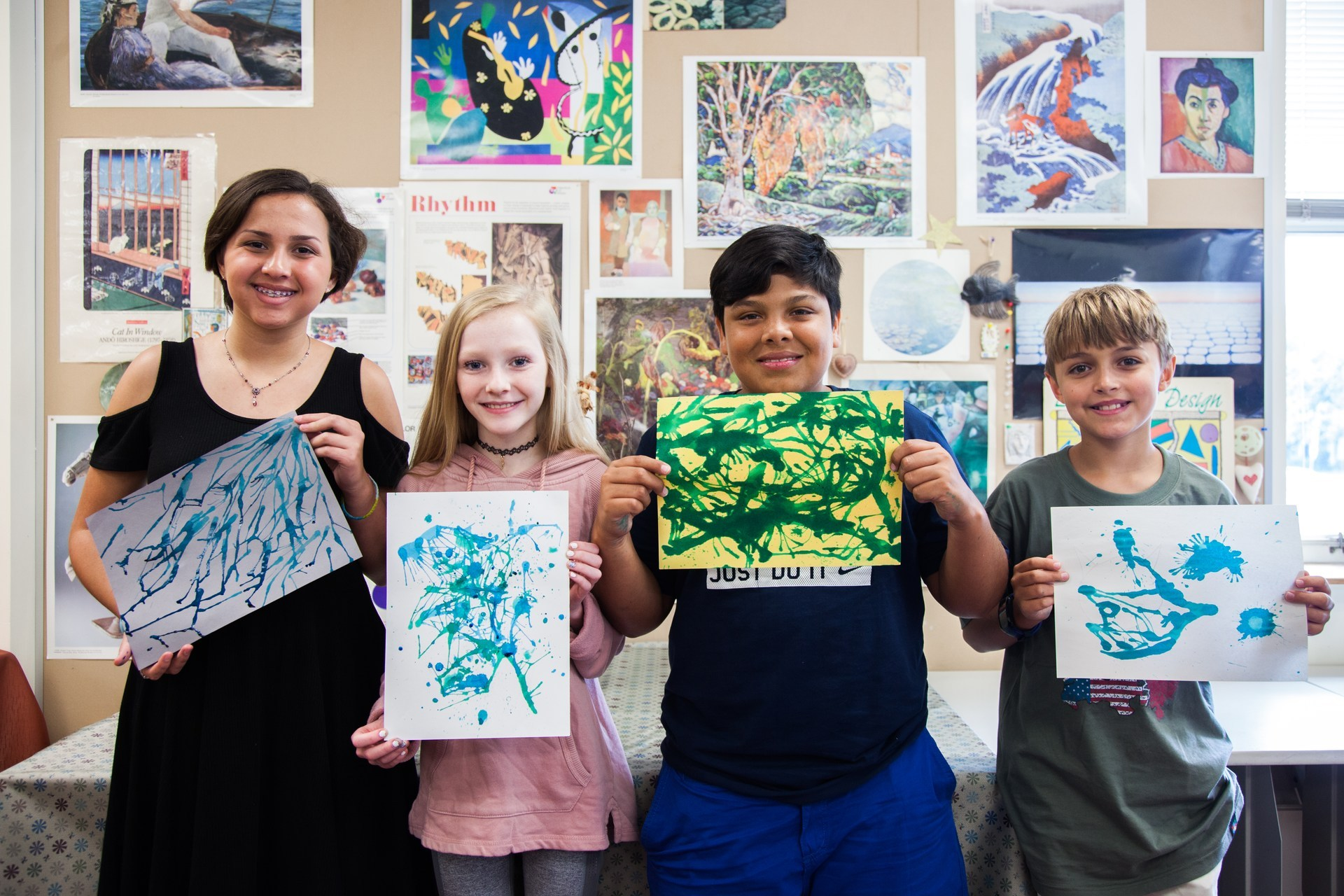 Four students showcase their art projects