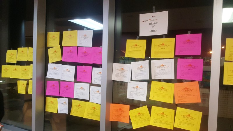 Staff, Scholars, and Families Express Gratitude on Window of Thanks Thumbnail Image