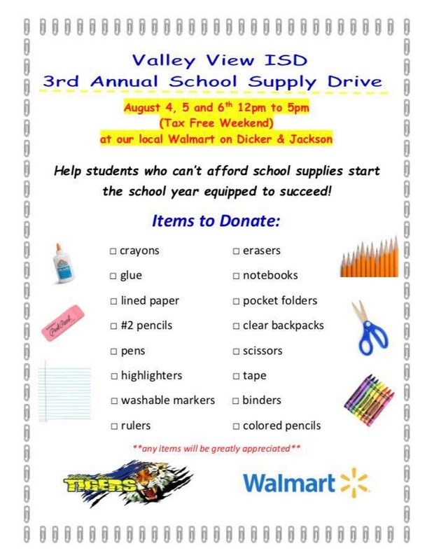 3rd Annual School Supply Drive Thumbnail Image